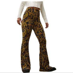 Urban Outfitter Green Velvet Paisley Flare Pants